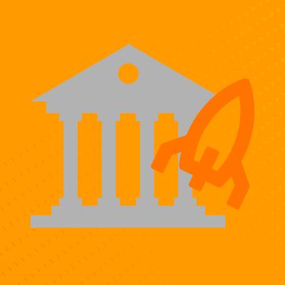 Capa do post banco fintech mostra um banco em ascensão