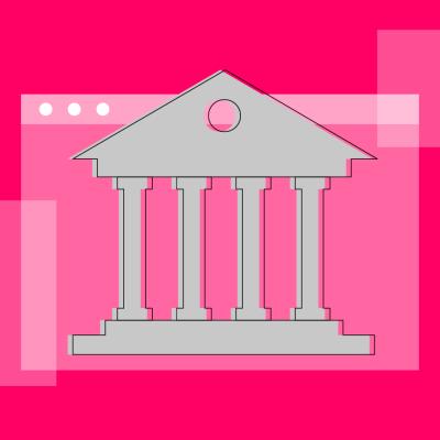 Imagem de um banco em um conteúdo sobre Banking as a Service